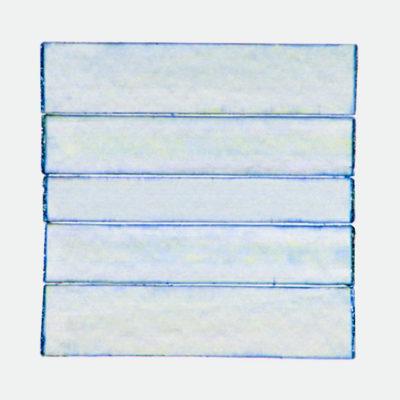 acrylverf op papier - tientallen semi-transparante lagen - lichtblauw | non-figuratief - verstilling | 52x52cm | ingelijst | € 750