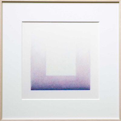 potlood op papier - blauwpaars | Helena van Essen© 2016