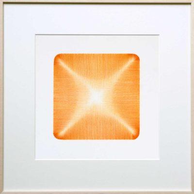 potlood op papier - oranje - passe-partout | Helena van Essen© 2016