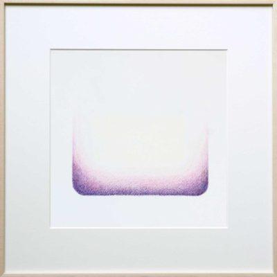 potlood op papier - paars - ingelijst | Helena van Essen© 2017