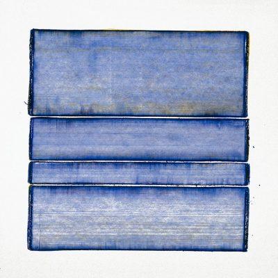 Acrylic paint on paper | blue | Helena van Essen©