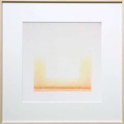 pencil on 2 layer paper | orange | Helena van Essen©