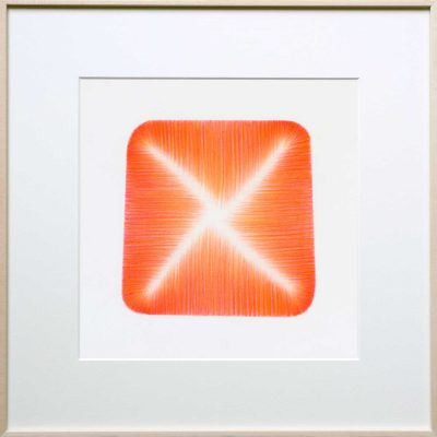 pencil on paper | orange-red | Helena van Essen©