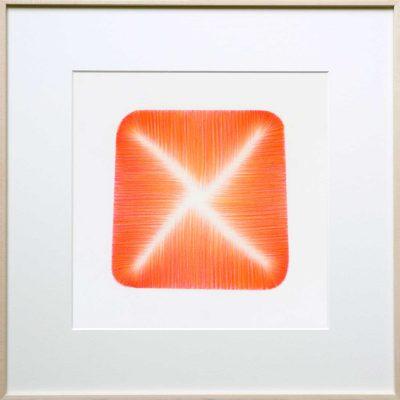 pencil on paper | orange-red | Helena van Essen©