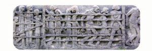 Relief, part monument Bittermark. Commemorates the murder of 300 prisoners. 1945. WW II. Germany, Dortmund. Part Tower of Babel, Art installation © Helena van Essen