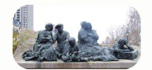 'De razzia van Vélodrome d'Hiver', 12.000 Joden worden opgepakt. 1942. wo-II. Frankrijk, Parijs. Onderdeel Toren van Babel, Kunstinstallatie ©Helena van Essen
