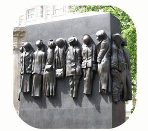 Monument for the British women of WW-II. United Kingdom, London, Whitehall. Part Tower of Babel, Art installation © Helena van Essen