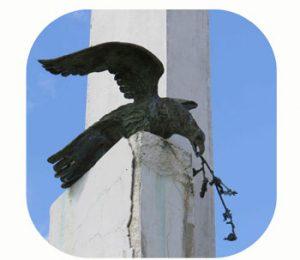 Monument voor gesneuvelde strijders Gostilj, tussen 1941 – 1945. Montenegro, Danilovgrad , Piperi. Onderdeel Toren van Babel, Kunstinstallatie ©Helena van Essen