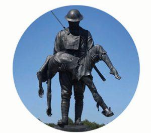 Monument 42e Regenboog Divisie (uit Alabama, VS). 1918. 2e Slag a/d Marne. wo-I. Frankrijk, Aisne. Onderdeel Toren van Babel, Kunstinstallatie ©Helena van Essen